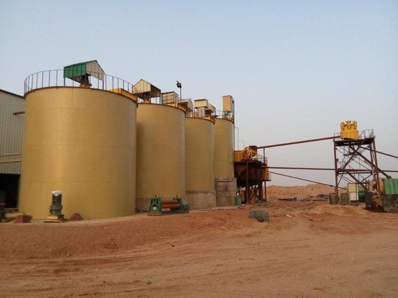 gold leaching tanks