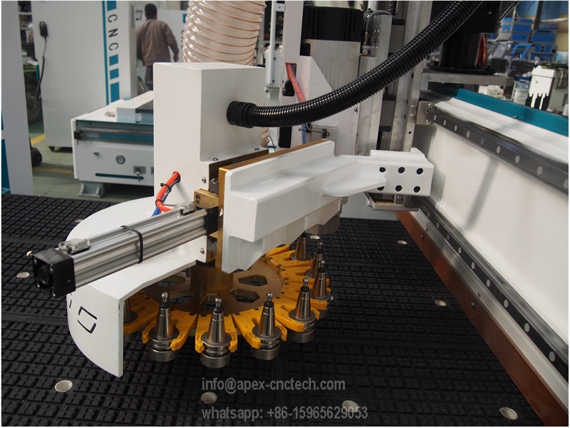 disc auto tool changer magazine cnc router for furniture