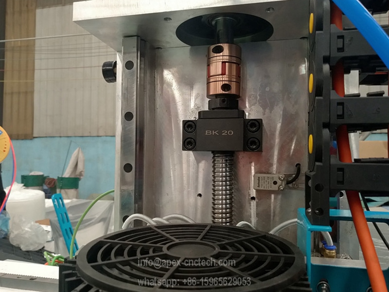 very strong best suality ballscreww on the Z axis cnc machine
