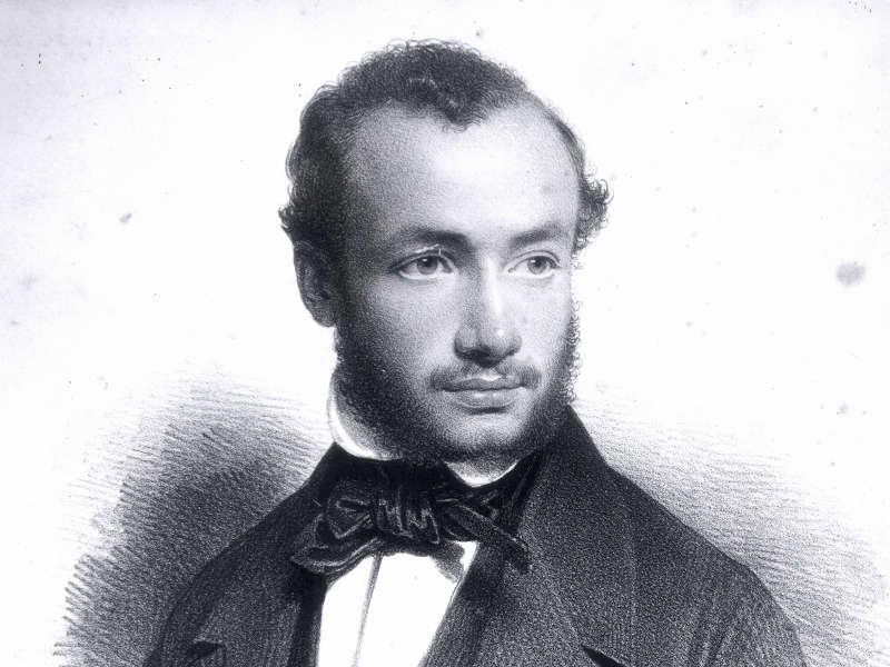 ヴァイオリニスト、ヴュータンの肖像画