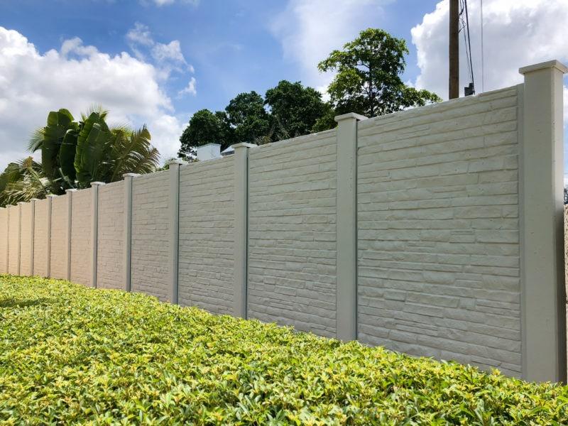 Permacast precast concrete fence