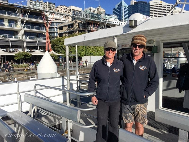 Whale watching crew on the ship in Darling Harbour, Sydney Australia