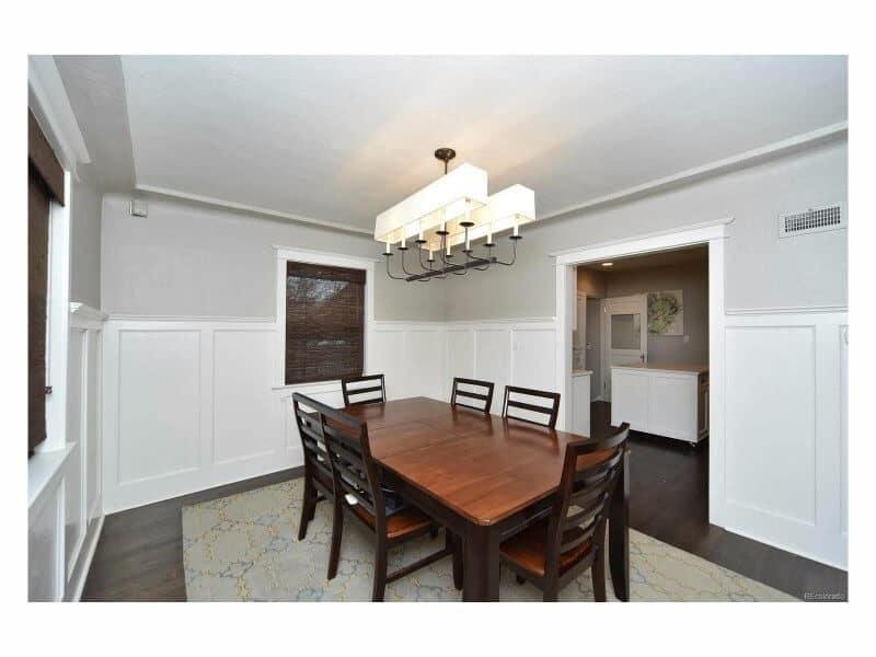Denver Home Remodel Tudor Craftsman Dining Custom Wainscoting