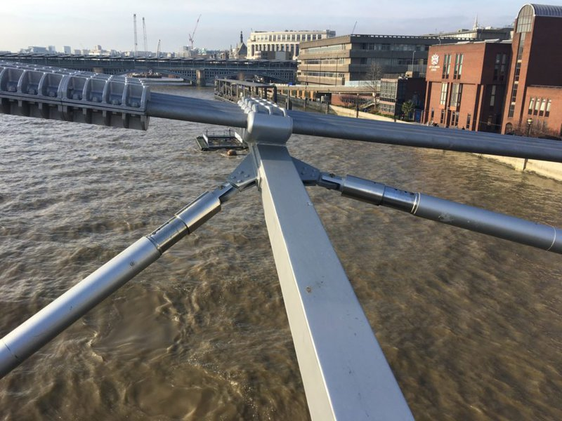 Damper on the Millennium Bridge