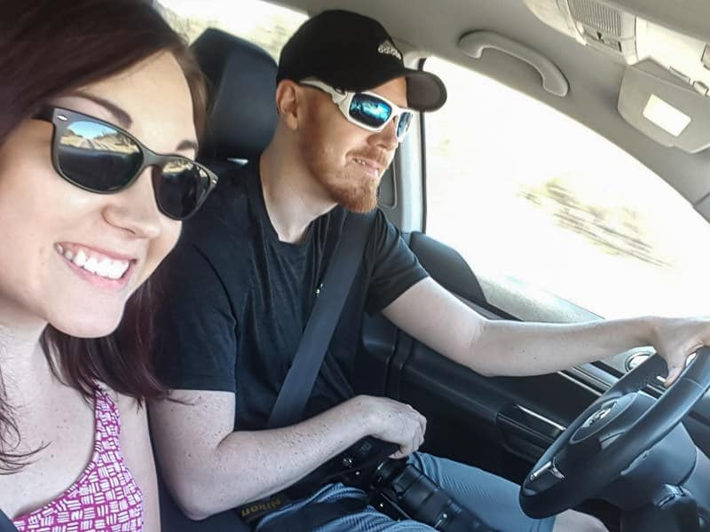 Brooke and Buddy on a road trip