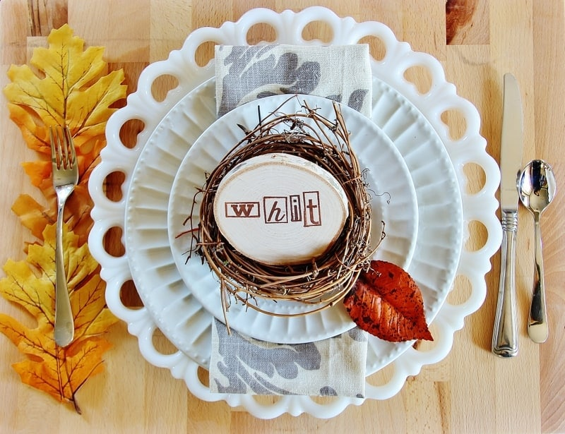 Thanksgiving Table Setting Ideas Wood Inspiration