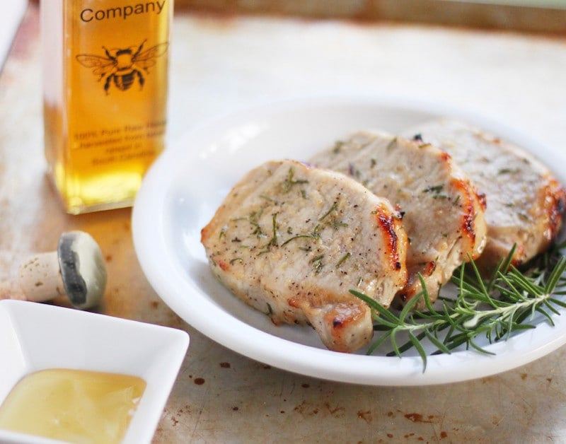 Broiled Honey Rosemary Pork Chops Recipe Bottom