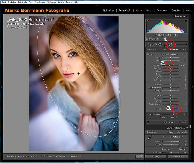 Farbige Vignette erstellen, Lightroom und Photoshop, Grundlagen, Bildbearbeitung, Fotos bearbeiten, Adobe Photoshop Lightroom
