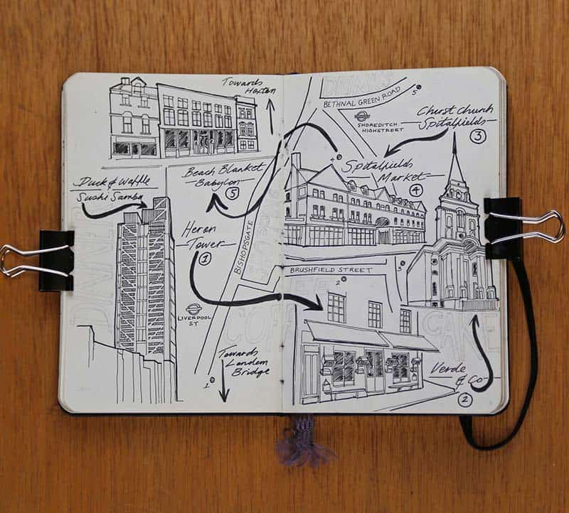Moleskine European City Map Drawings jitesh patel illustration