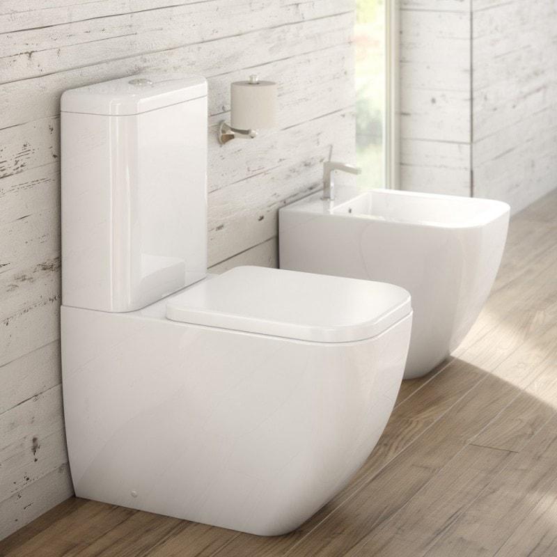 inodoro de diseño  en baño de diseño