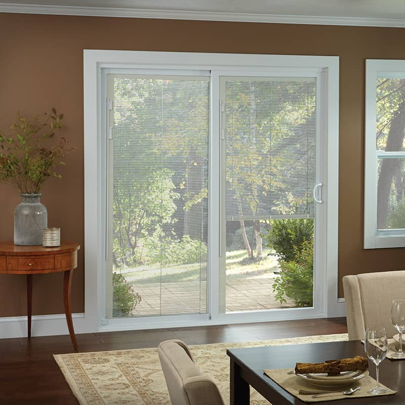 50 Series Gliding Patio Door with Built-In-Blinds