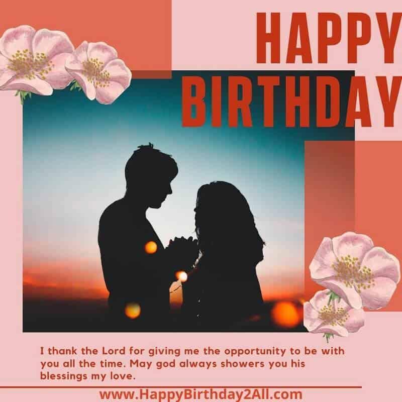 HAPPY BIRTHDAY my love fiancee