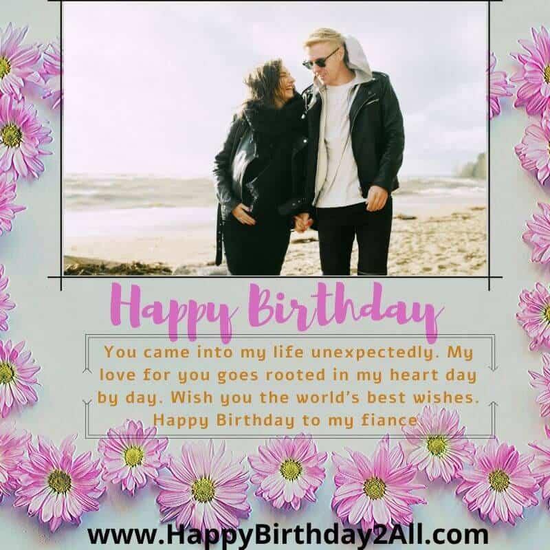 Happy Birthday fiance
