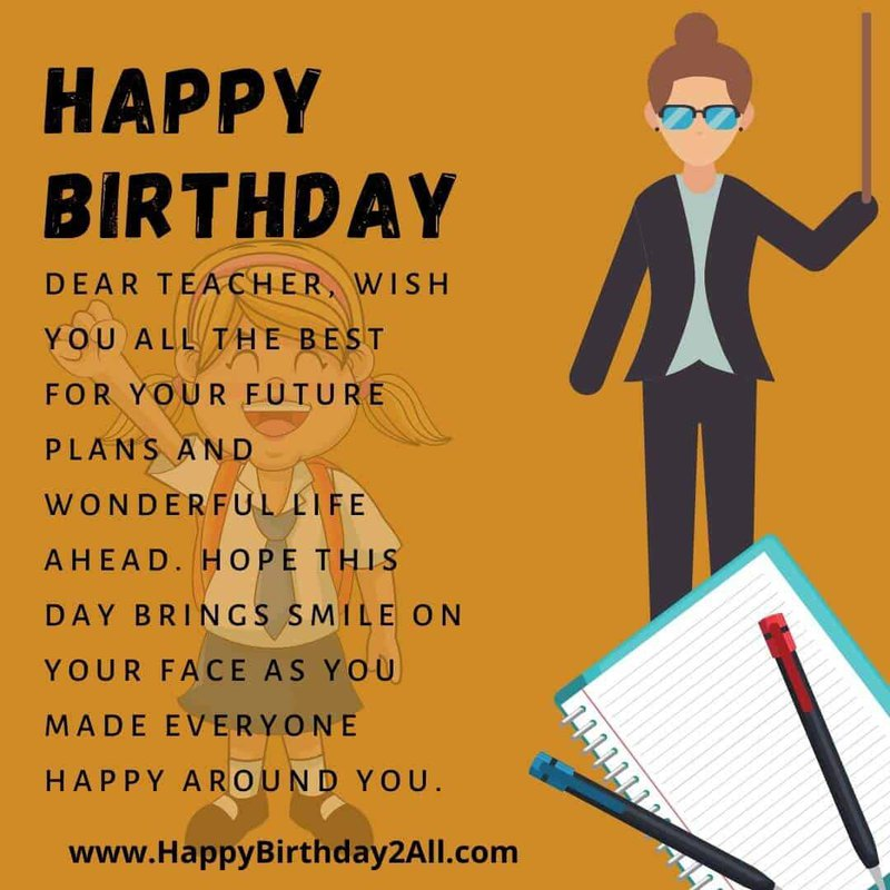 birthday wish teacher