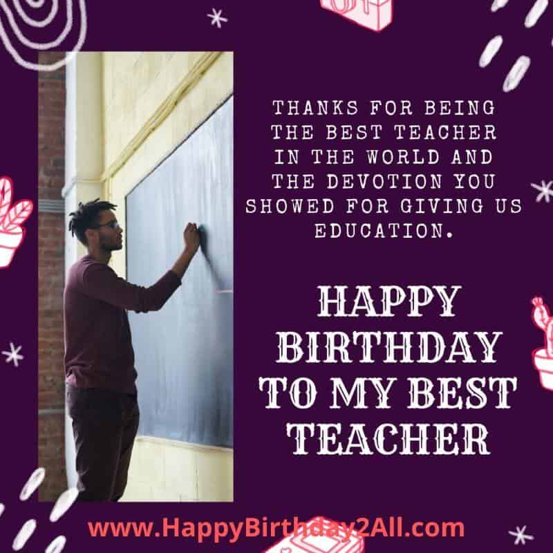 happy bday teacher