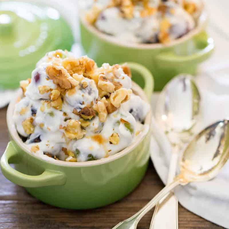 grape salad with cream cheese