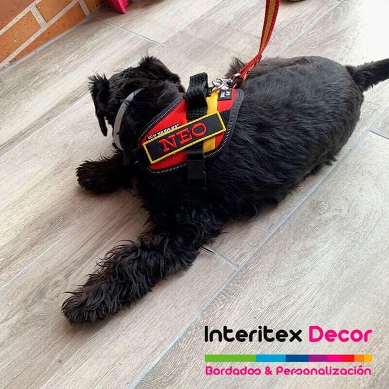 Parche personalizado perro arnés bordado