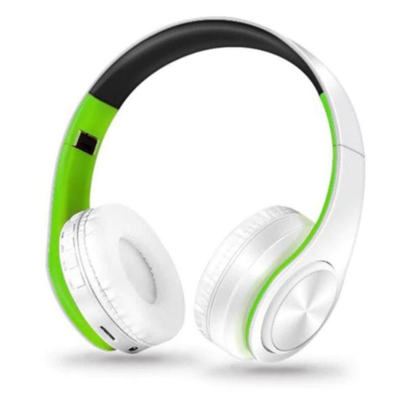 Casti Bluetooth NBY LP660 Alb-Verde