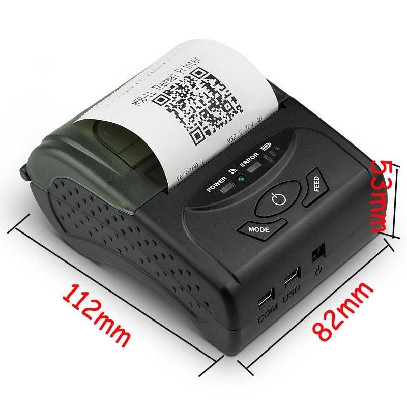 Imprimanta termica ZJ 5807 Dimensiuni