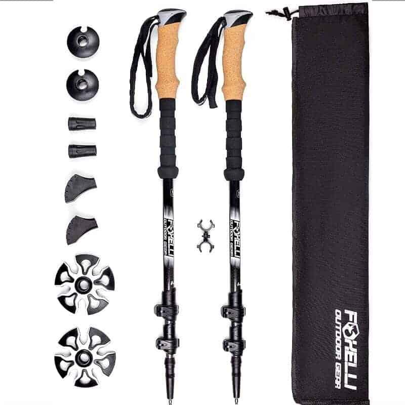 Foxelli carbon fiber trekking poles