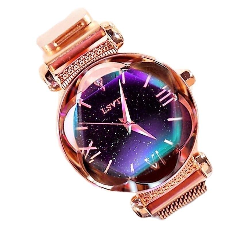 zegarek damski złoty shine gold rose chic