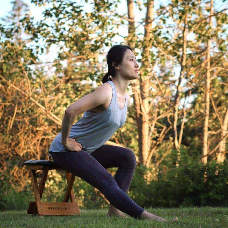 Kyung-sun Bake leads a gentle Gyrotonic-based Group Exercise class