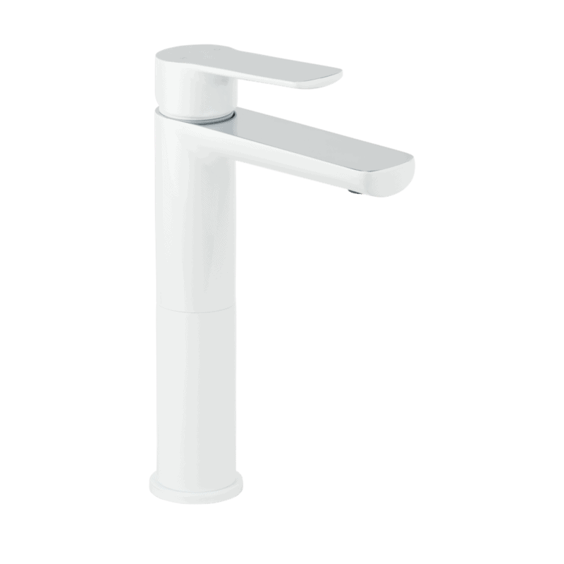 Alano Basin Mixer Extended - White and Chrome