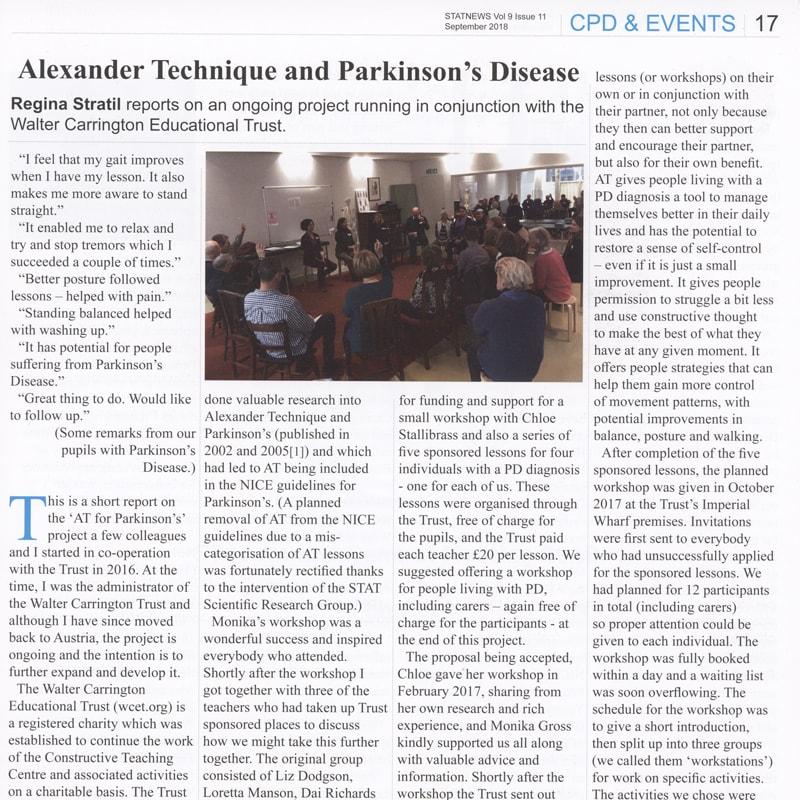 Alexander Technique and Parkinson's