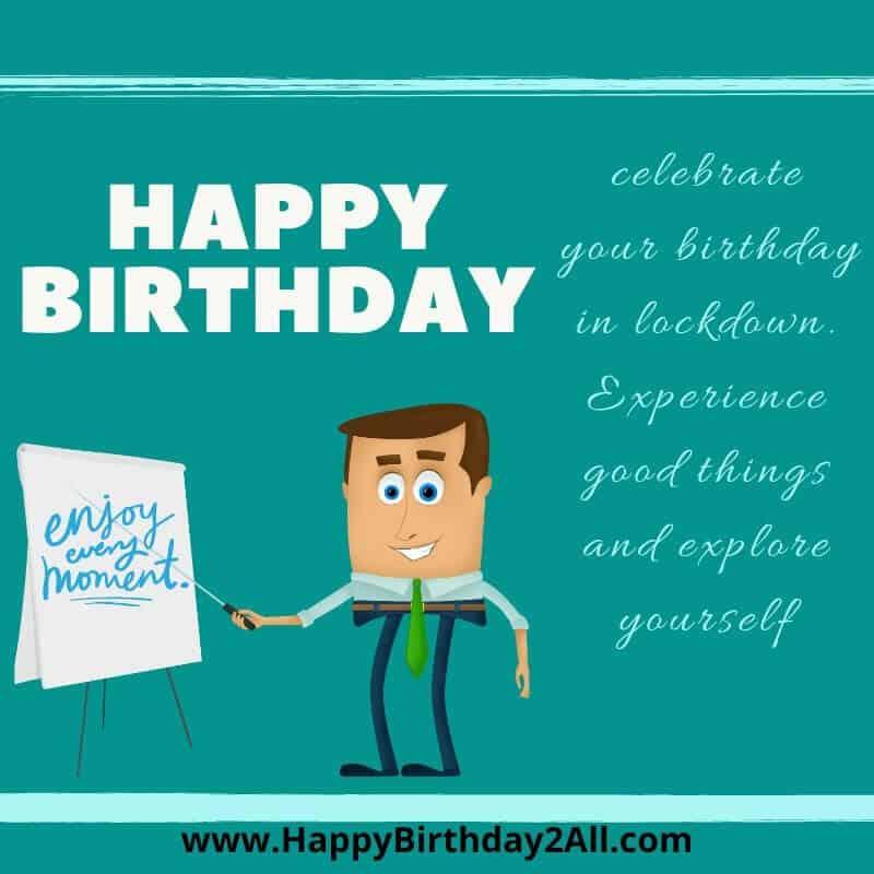 celebrate birthday in corona lockdown