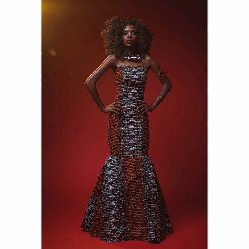 Matt African Dress by House of Izzi