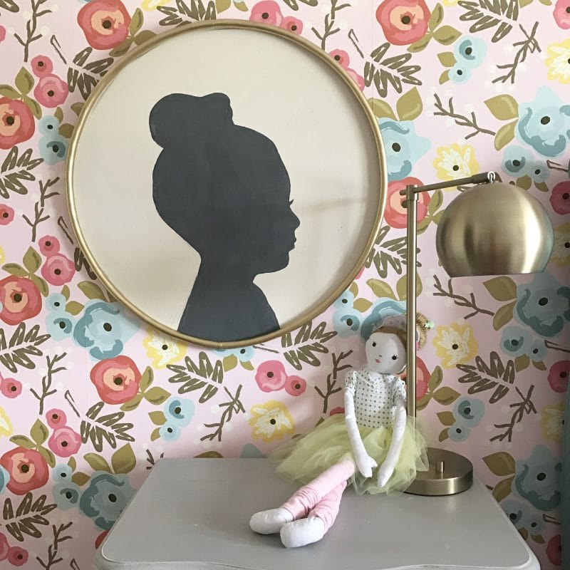 DIY Large Silhouette Art