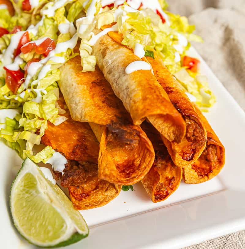 baked taquito toppings