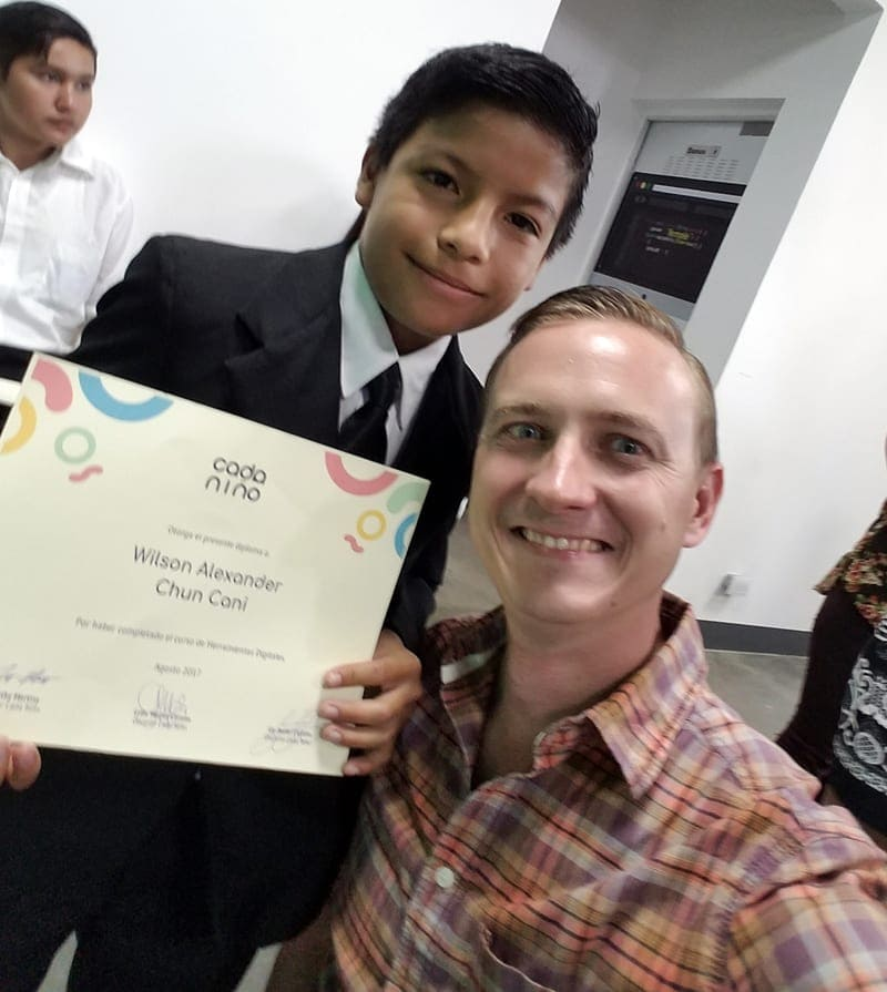 With Wilson, one of our best students, at Graduation