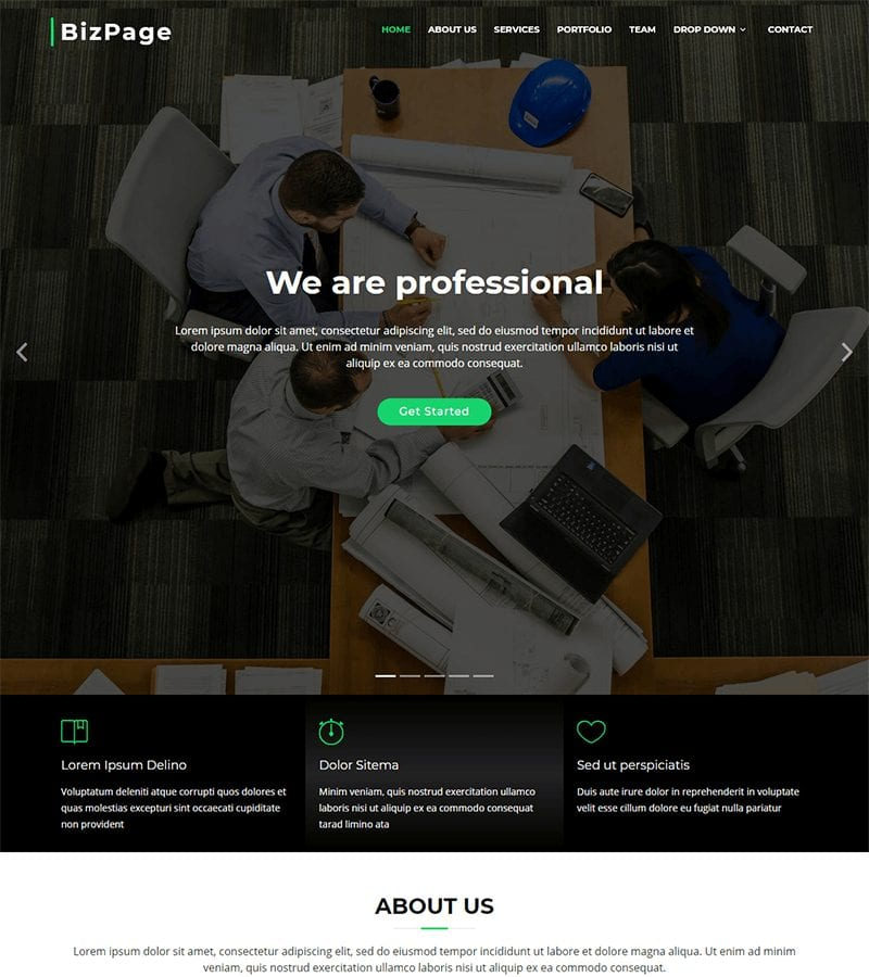 BizPage Bootstrap Business Template