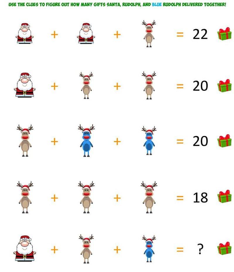 Santa Christmas Brainteaser 2
