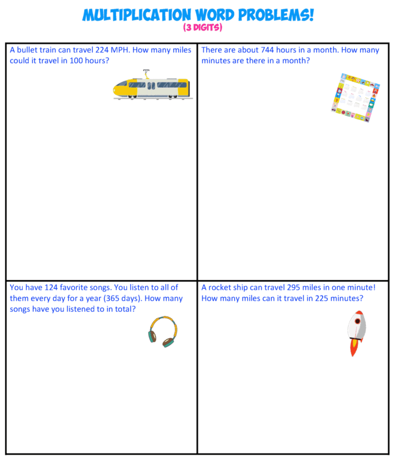 multiplication word problems 8-3X