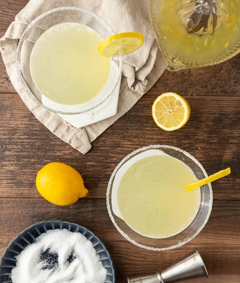 lemon drop with sugar rim