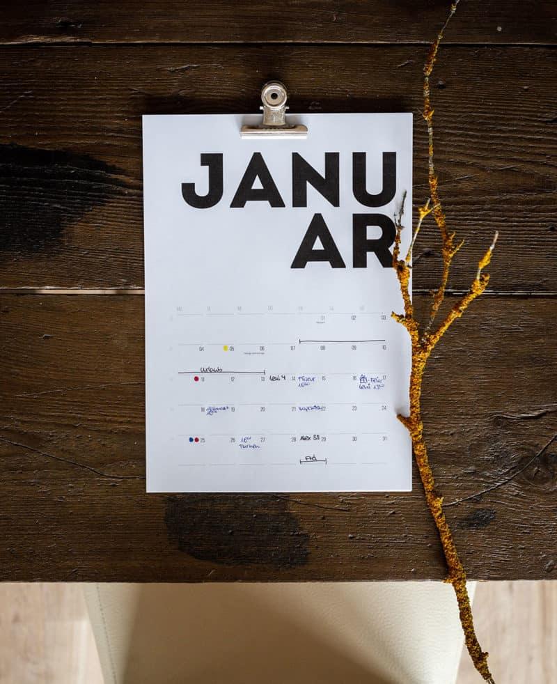 Kalender 2021 - free zum Ausdrucken