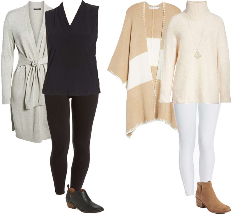 118e5e3bc72 Outfit ideas on how to style leggings while layering | 40plusstyle.com