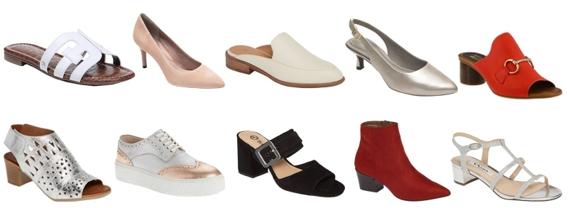 shoes for the rectangle body type | 40plusstyle.com