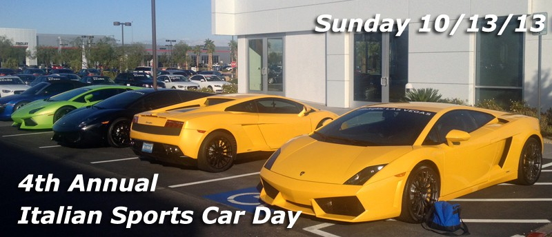 4th Annual Italian Sports Car Day, Las Vegas, NV