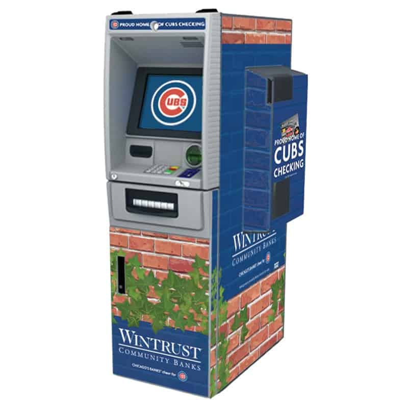 NCR SS28 (SelfServ 28) with AC Unit Custom ATM Graphic Wrap
