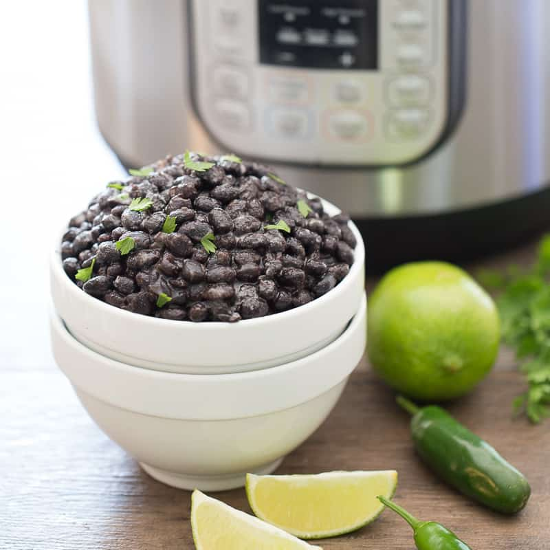 Instant Pot Black Beans Ready to Serve