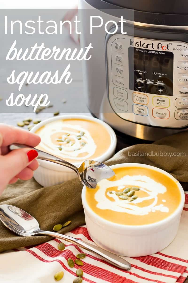 Instant Pot Butternut Squash - an easy Panera copycat Autumn Squash Soup recipe that is much more healthy