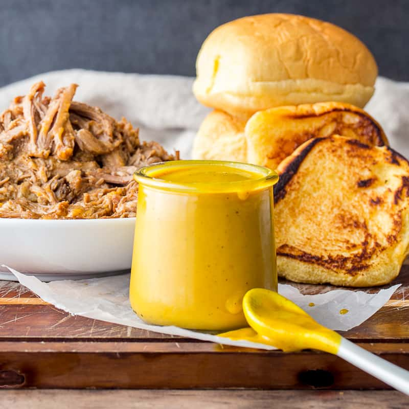 Carolina Mustard BBQ Sauce in a jar