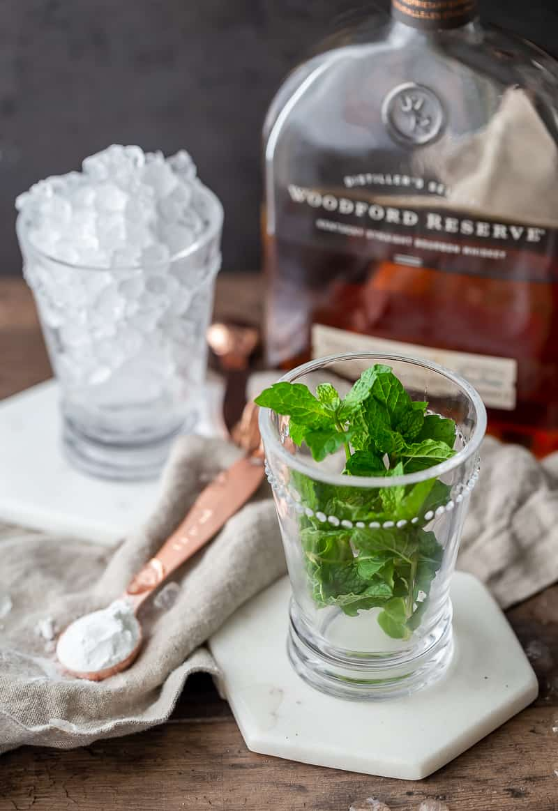Ingredients for Classic Mint Julep