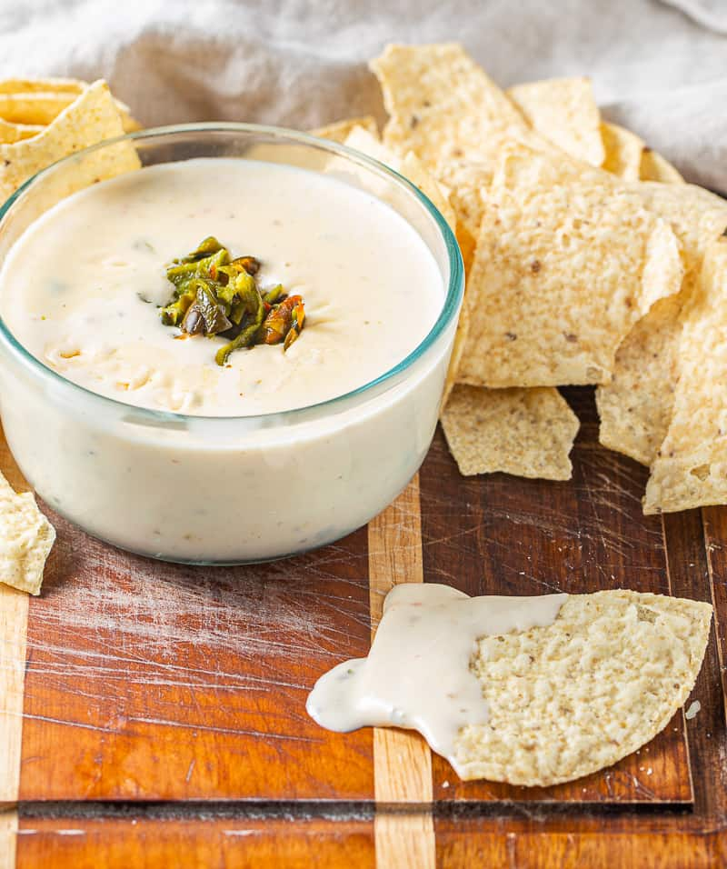 Queso Dip with chip