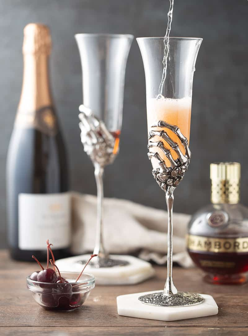 kir royale with chambord