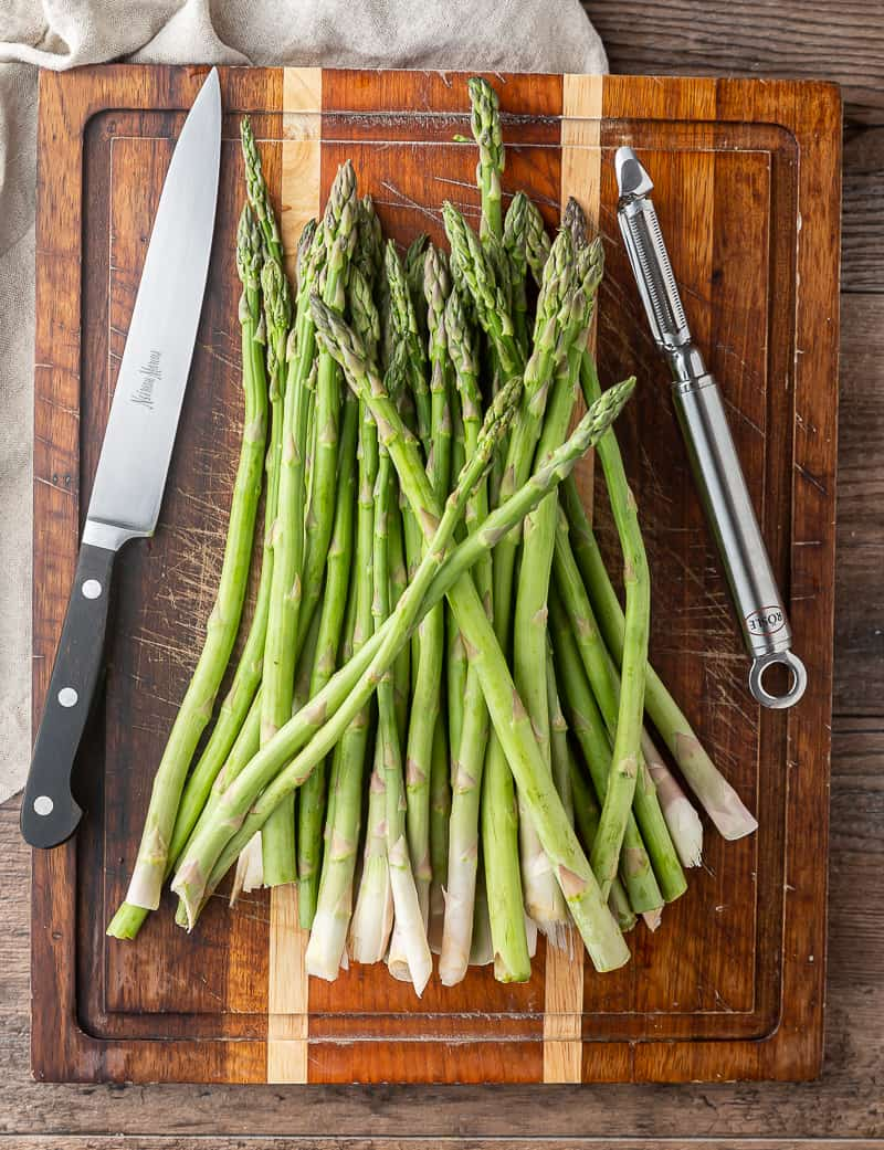 how to trim asparagus