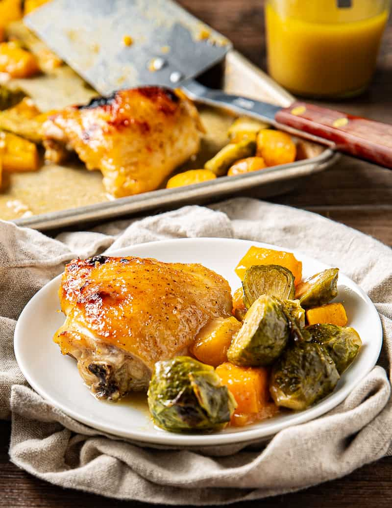 chicken thigh sheet pan dinner